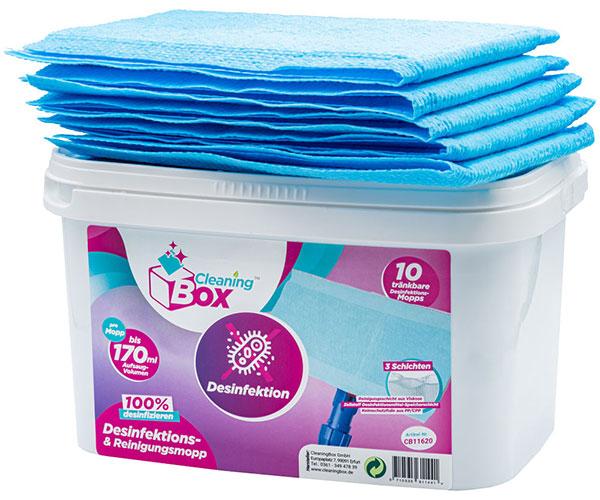 CleaningBox DesiMops, 42x13 cm, blau, 10er Spenderbox