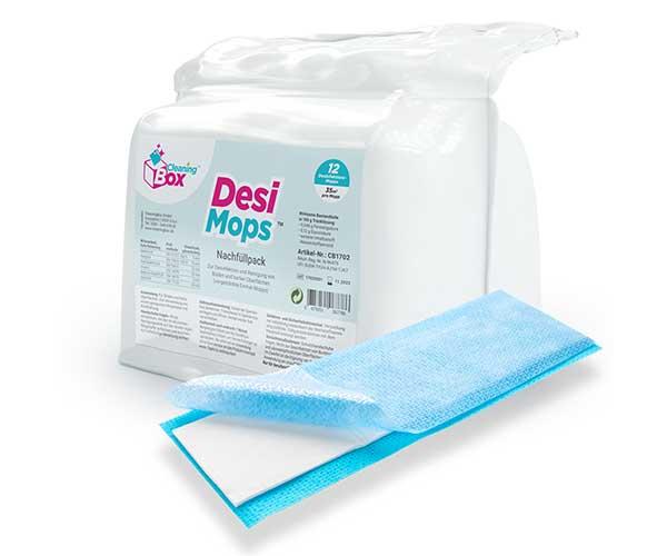 CleaningBox DesiMops, 42x13 cm, blau, Nachfüllpack 100 Stück